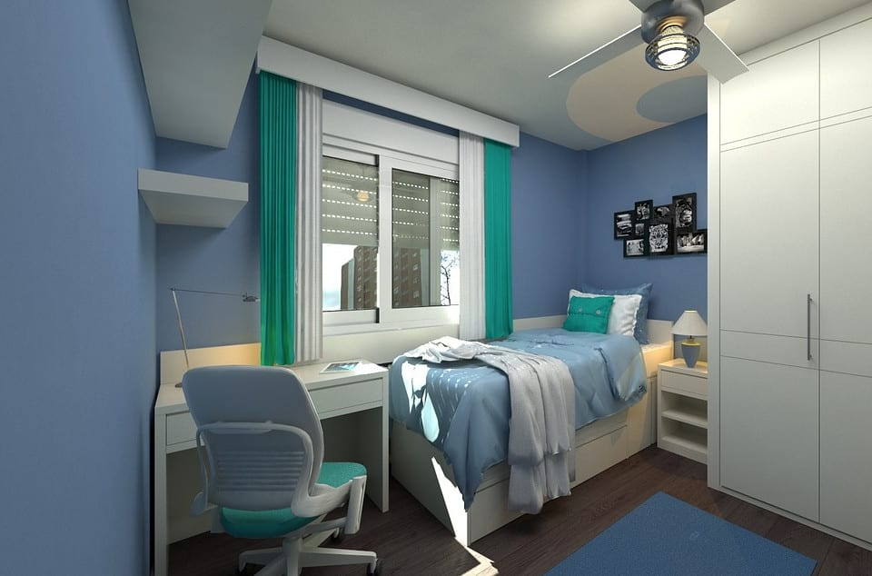 Light Blue Kids Bedroom Paint Concept in North Texas | Texas ...